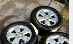 P225/60R16. Industry set of floor mats rubber tough rugged.16 Inch GM Rims New Tires.. (3 only) Like new..