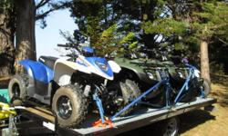 2012 Honda Recon 250 x 2; 2012 Polaris Phoenix 200 x1; 2012 Polaris Outlaw 90x1; 2009 Karavan trailer 24 ft.. All in excellent condition, approx 25 hours usage. Comes with accessories ie helmets, goggles, gloves. Will sell quads separately.
