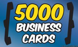 5000 BUSINESS CARDS $99 FULL COLOR FREE DESIGN BOTH SIDES THICK 16 PT. GLOSSY OR MATTED FINISH CALL OR TEXT () -