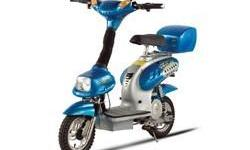 blue x-treme power assisted electric bike. runs exceptional. one charge last for about 2 to 3 days just depends on how much you ride it. have everything to go with it, paper work, tools, trunk, extra lights, spare tire tire. i can no longer ride it, have