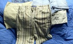 All 5 pair have not been worn more than once, if at all. Tan-St. Johns Bay Jean--Bongo Plaid-Bandoligio Jean-Tommy Hilfiger Tan-Arizona Make offer! All great shorts--no tears, no problems!