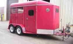 6x12 Slant Load Combo Trailer 7? Tall 6? Wide Solid Rear Door Slant Wall Dress Slant Wall Divider Dress Door on Passenger?s Side 2-Stack Saddle Rack Optional Spare Tire Shown 2-Brake Standard Specifications GVWR 7000 lbs Empty Weight 2200 lbs Payload