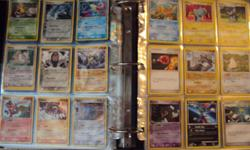 Selling my collection of 736 pokemon cards! There's about 12 very rare cards and very many rare and uncommon cards. A shiny, Tyranitar coin is also included. I've kept all my cards in plastic sleeves in a binder so they are all mint condition! The binder
