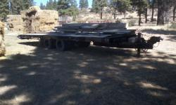 1984 Wisconsin 20 Ton Tilt Bed Trailer in good condition new paint