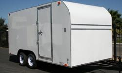 """8.5 X20 X 7 TA ENCLOSED 2-3500# AXLES 1- BRAKE AXLE RAMP GATE SIDE DOOR (36"""") 3/4 WOOD FLOOR FULL WOODWALLS 4 -FLUSH DRINGS ROOFVENT SPARE TIRE & MOUNT"""