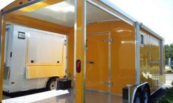 ProConcessions Trailer Sales 3114 Augusta Tech Drive, Ste. 401 Augusta, Ga 30906 www.proconcessions.com  proconcessions@yahoo.com Phone: --  8.5X24 BBQ Beautiful Penske Yellow Concession Trailer  Price: $26,999 Interior Height 7? 5? . 6'