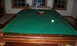 Excellent condition will sell with everything only used it a couple times Or make me a offer. Its not a slate table green felt sportscraft brand