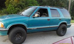This is a 4 door Chevy blazer with a 4.3. It's a very dependable vehicle that is good on gas. It has wide tires, so if you wanted, you could play in the mud. Has tinted windows all the way around. The truck speaks for itself. It does need a camshaft and