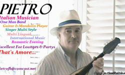 """*PIETRO* """"One Man Band"""" """"Music Entertainment"""" email :pietrofb@comcast.net ****************************************************************** PIETRO is a Cosmetologist (Hairdresser) Manager (MGR.Minnesota Cosmetology Licence) The beauty parlor where I work"""