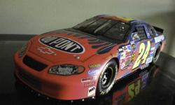 I have several Jeff Gordin die-cast cars for sale.  Boxes had gotten wet when me moved but cars were protected with plastic bags inside boxes, no water damage. J. Gordon 2-Pepsi cars J. Gordon 1 - Championship car in case J. Gordon 1 - Sesame St car