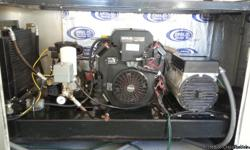 Motor Kohler Command Pro- 28EFI. Air Compressor- Rotor Comp Verdichter (made in Germany). 15000 Generator- Mecc Alte Spa- Creazzo Viccenza Italia (made in Italy). This comes as 1 unit and provides 120 and 240 service. Air compressor,