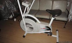 I have a nice air trainer pro exercise bike I no longer use.It has been stored in my parents garage for quite awhile It is in very good shape if you would like to see it or tralk about it please call me at ( -- ) Thanks Robbie