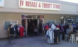 We are having a clothing sale at our JV Resale and Thrift Store located in Poway at 12845 Poway Road, #204, Poway, CA 92064. We are open 7 days a week, and usually from about 10am until about 6pm. We are in the old Poway Movie Theater located next to