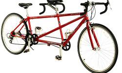 Beautiful red tandum bike. Bought last summer and rode it five times. It is an awesome bike and is a great deal for the price.