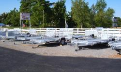 ALUMA UTILITY AND ENCLOSED TRAILERS IN STOCK,,,VARIOUS SIZES,,,ALUM. WHEELS,,,EASY LUBE GREASE HUBS,,,L.E.D.LIGHTS,,,TAILGATES,,,ALL BACKED WITH A 5 YEAR WARRANTY,,,,MEMBER OF N.A.T.M.,,,,ONLY AT; MCALPINS SMALL ENGINE,,,78 ST RT 131 MAYFIELD