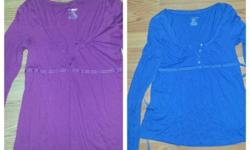 Two American Eagle Ladies Tops, medium, but fit like a small. In good condition