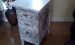 White and black streak painted very sturdy