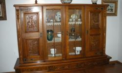 Solid Oak dinning room hutch. Good condition.
