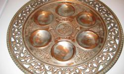 Silver & Brass Sedar Platter