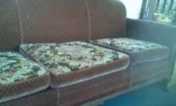Antique Mohair sofa for sale. Sofa is in great condition. No musty smell. Brown floral pattern on one side of Cushion. Wood is also in great condition. A great deal for the price!!!!