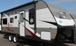 Nice light weight travel trailer with a walk around bed. This camper makes it easy to just load and go. For details call JR at 352 843 four four 36.