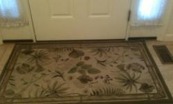 """4 matching area rugs 1 -  5ft 3"""" wide by 6ft 8"""" long 2 - runners 2ft wide by 6ft 6""""1/2 long 1 - 2ft 7"""" wide by 4ft 4"""" long GOOD CONDITION"""