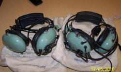 This is a set of headsets that I used as a pilot. They were used only a few times and are in the original bags and in great shape. I no longer have an airplane so they are of no use to me.. They are the David Clark series model #H10-40