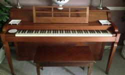 Piano was purchased in the 60's and has been used on a regular basis since then. It has been tuned on a regular basis. If you have any question let us know.
