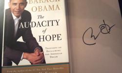Barack Obama Audacity of Hope autographed book. $10,000.00