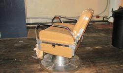 narda barber chair, chair is about over 20 years old, but hydralics are great. Chair cover has wear,so more for your hydralics then for the chair cover. These things sell for a lot more than asking. Email clarkshire@hotmail.com and leave phone