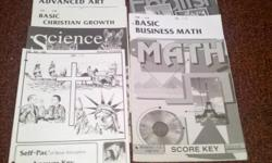 This is (Basic Christian Education Homeschool Curriculim) Score Keys for 10th Grade This Set of Score keys include these subjects Social Studies Science English Math(Geometry) Basic Business Math Basic Christian Growth Basic Advanced Art I also