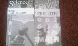 This is (Basic Christian Education Homeschool Curriculim) Score Keys for 11th Grade This Set of Score keys include these subjects Social Studies Science English Math(Algebra II) Health Basic Life of Christ I also Have Score keys for 9 th & 11th