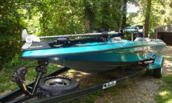 Single owner boat, bought new in 1994. Excellent condition. Boat has always been kept in the garage under a custom tarp. 36V Motor Guide trolling motor Tour Edition. 109 lbs thrust. 150 Mercury XR4 motor.