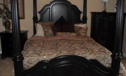 This is an amazing set by lifestyle furniture that i purchased September of 09 for 2700 i still have the receipt. So i really do think its a fair price. The only thing wrong with it is that there is a mark on the chest. This set has the bed, dresser and