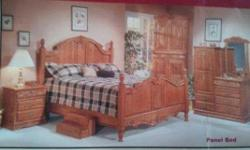 Just in time for Christmas! Kingsize Oak bed ... dresser ... two nightstands (have hidden jewelry drawers in bottoms) ... butler/entertainment stand. New was $7,200. Located in Albion. -- ... inslady@netzero.net