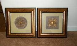 Both ot these measure 14x14 inches, and in excellent condition...Great for any roon in your home. CALL OR TEXT --....24/7 AND LEAVE MESSAGE