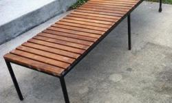 """wood bench (72"""" x 18"""" x 15""""). great for playroom or den setting. can add cushions!"""