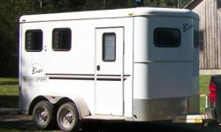 2006 Bison 2 horse step-up slant load BP trailer. I am the second owner. This trailer is in very good shape. Has had a minimum of use. This is one of the last steel trailers built by Bison without living quarters. Good sized tack room/dressing