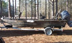 Great fishing boat! Excellent cond. Center console, depth finder, live well, galvanized trailer, spare tire, spare prop, life jackets.Will sale or trade for backhoe equal value.(561) 688-3000