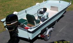 1972 ORLANDO FISHERMAN 16, FISH FINDER, COMPASS, TACH., VOLTMETER, TWO 6 GAL. FUEL TANKS, ELEC. HORN, ANCHOR CHAIN AND LINE, WHITE BIMINI TOP, ALL REQUIRED EQUIPMENT, 1985,4 CYLINDER 50 HP. MERCURY ENGINE,49.1/2