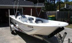 20 FT Carolina Skiff boat, 90 HP motor, aluminum trailer, $14,200,like new excellent condition, call 912-756-5258. Great boat for fishing, riding or skeeing, rated for up to 8 people.