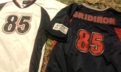 2 Boys size 16/18 Allsport Performance #85 Gridiron Athletic Gear Shirts. Very Good Condition. $5 for both OBO Contact me at jejmej1@yahoo.com or 713-868-9500