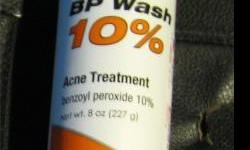 10% benzoyl peroxide acne wash 8 oz. 227 g.  i also have clindamycin gel and tretinoin cream if interested