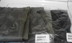 I have 3 pair of 30-32 mens dress or casual pants for sale. Brand Axist, bought them online from Sear's. They are brand new never worn except for the olive green pair were worn once. The colors are olive, gray & hunter green. Son never wore them, just