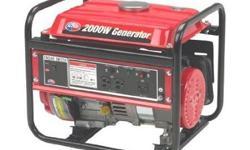 GENERATOR - New in Box BRANDNEW PORTABLEHOMEPOWER GENERATOR · 2,000 Watts Surge/1,400 Watts Continuous · 3 HP 4-Stroke Engine
