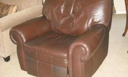 Beautiful Chocolate Brown leather recliner, works and looks great. Bought at Jon's home furnishings in Folsom for $1,200.00 about 5 years ago. Due to a handicap, I now must use a lift chair.