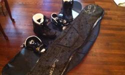 Like new Burton Royale snowboard with Exide bindings. Length:166cm Used just part of one season Nice Dakine board bag included All just $300. Professional gear for a starter price Also available Soloman Brigade boots - size 12.5 - $75 Call Ron at .. for
