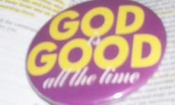 3' Button's GOD is GOOD ALL the time