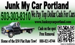 Cash For Cars Portland is currently paying the most for your junk cars, and junk vehicles. Sell junk cars with free towing and cash paid on the spot. We buy all junk cars and we pay only cash. Sell your junk vehicles with no hassle and we pay more than