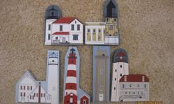 CAT'S MEOW LIGHTHOUSES-SANDY HOOK, FENWICK ISLAND, ADMIRALTY HEAD, SPLIT ROCK, ASSATEAGUE, BELLEFONTE